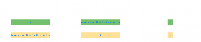 Equal widths buttons in app