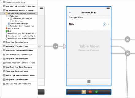 My Maps view controller in storyboard