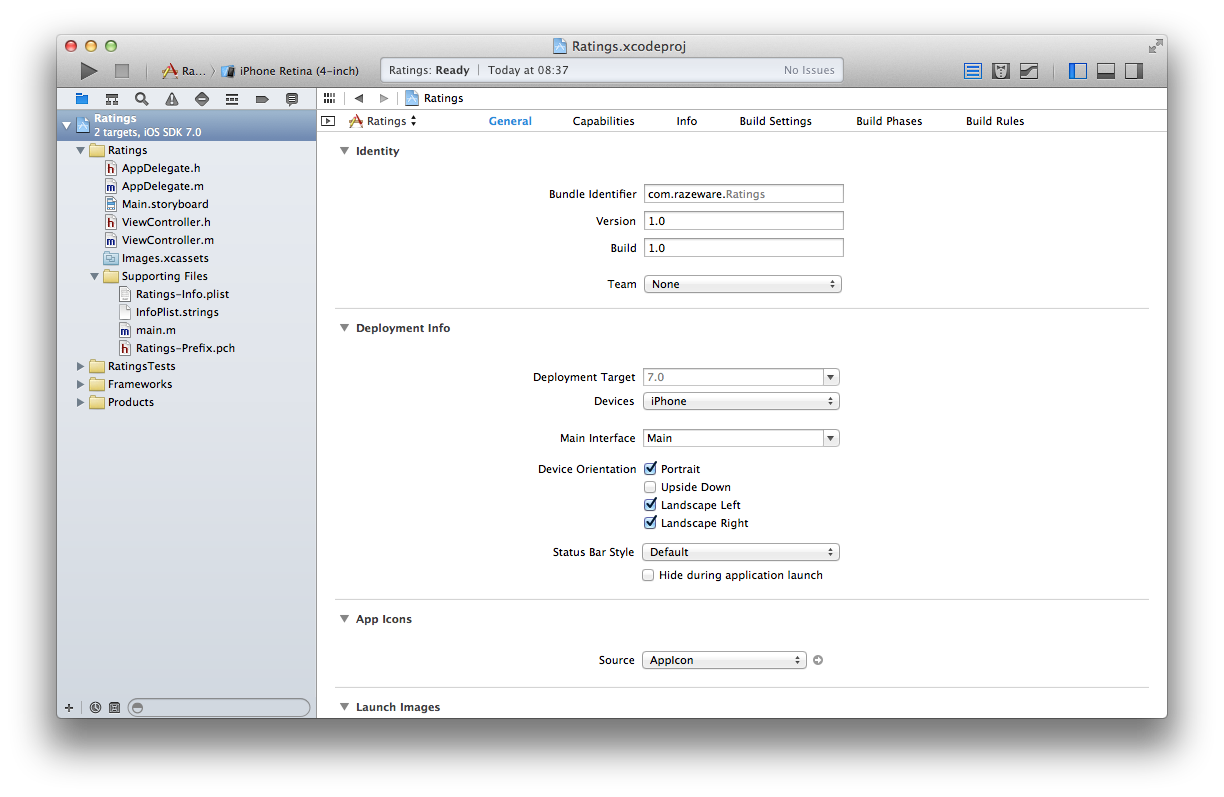 New-project-in-Xcode Xcode Application Template on for ios, app icon,