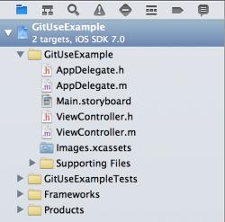 GitUseExample Project Navigator