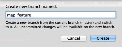 New Branch Name Pane