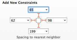 Spacing to nearest neighbor