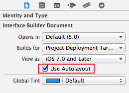 Enable autolayout