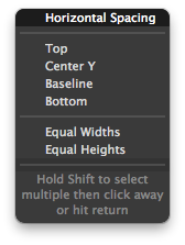 New constraint popup