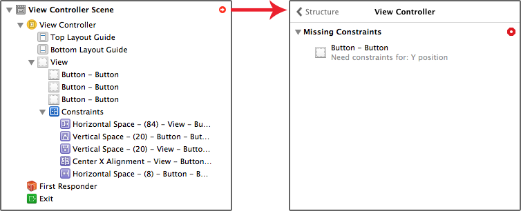Auto Layout issues in document outline
