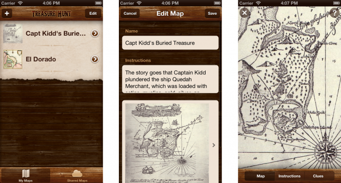 Treasure Hunt iOS 6 version