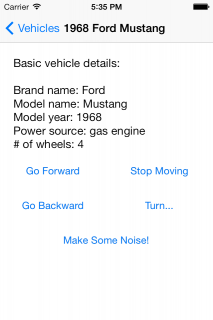 Basic vehicle details