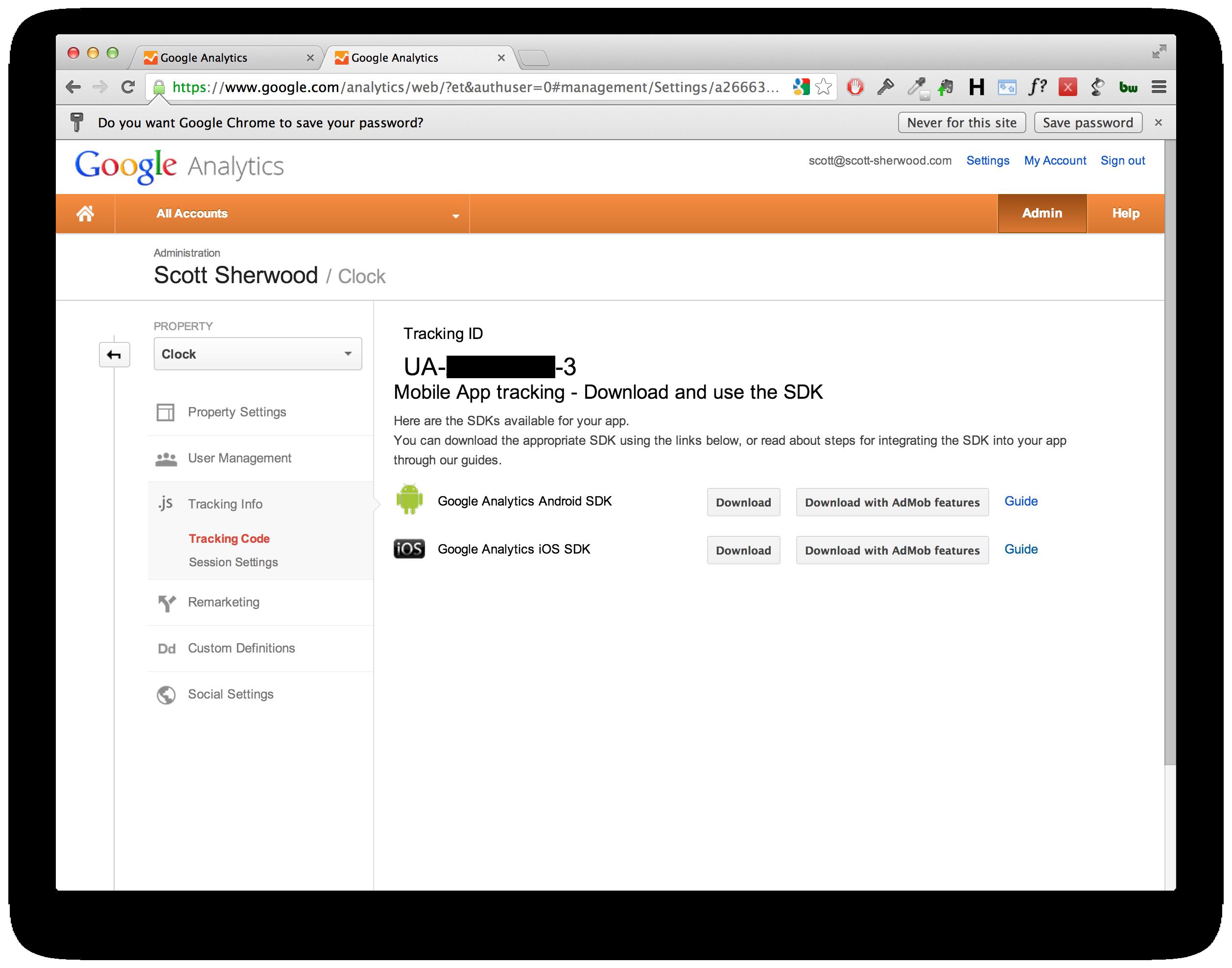 how to find google analytics id