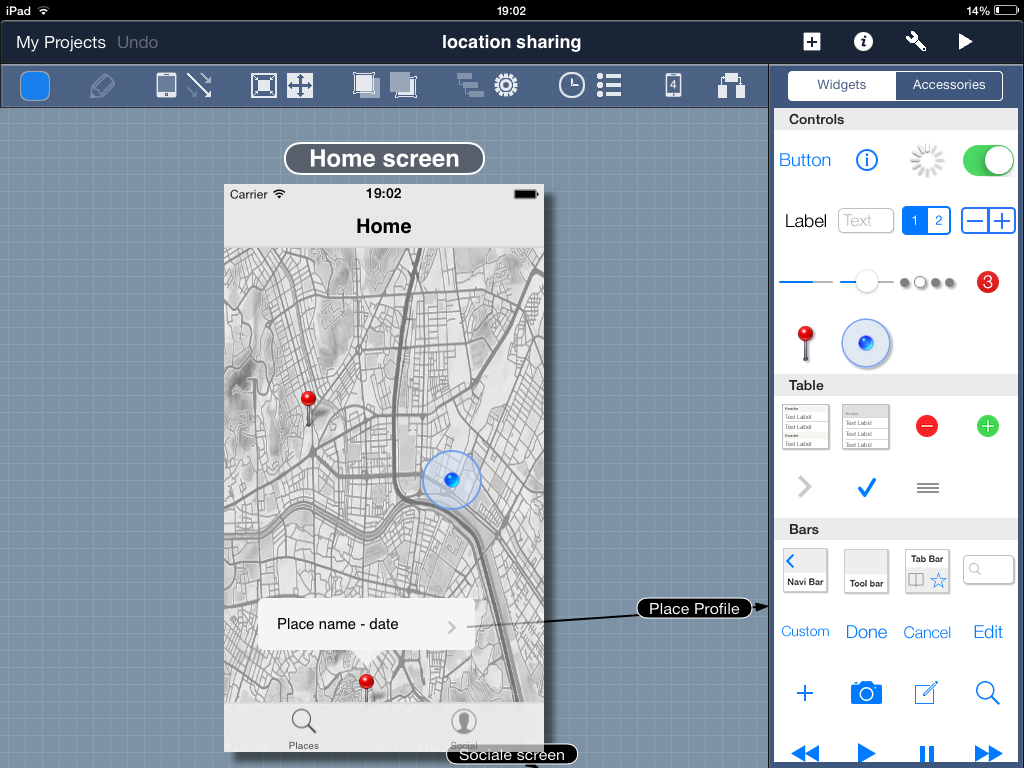 App mockup tools reviews part 1 ray wenderlich if you always have a lot of projects on the go youll love the fact that blueprint supports multiple projects with ease if you need to migrate your apps malvernweather Image collections