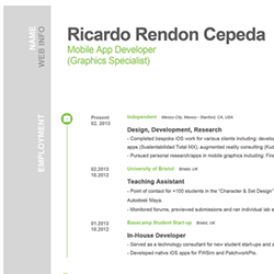 rendon cepeda resume - Ios Developer Resume
