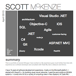 scott mckenzie resume - Ios Developer Resume