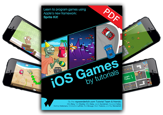 iOS Games by Tutorials Version 1.0 Now Available!