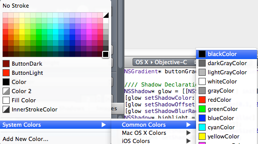 add a stroke color in PaintCode