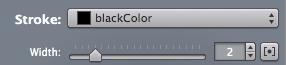 stroke width in PaintCode