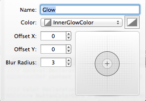 Adding a glow in PaintCode