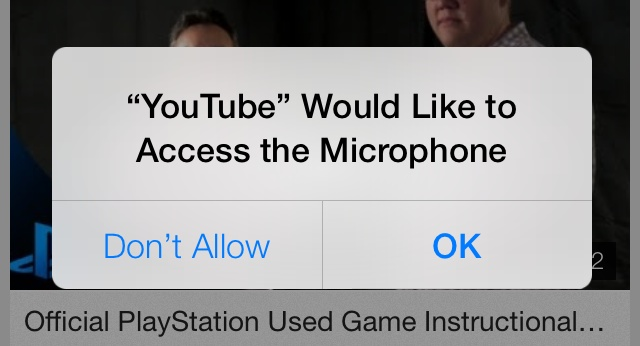 Apps on iOS 7 needs to get your permission to access the microphone!