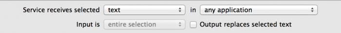 automator workflow input