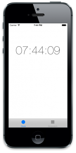 Clock Starter Project Initial Screen