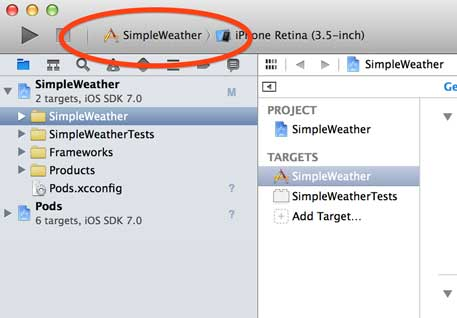 Select SimpleWeather Project