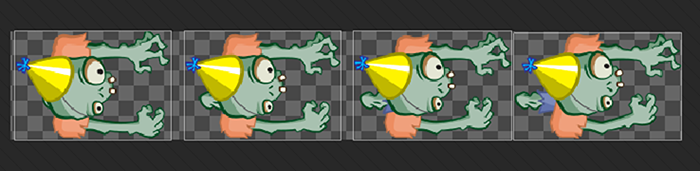 auto-sliced zombie sprites