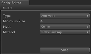 default slice options