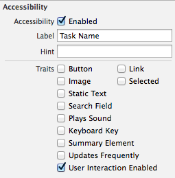Storyboard accessibility
