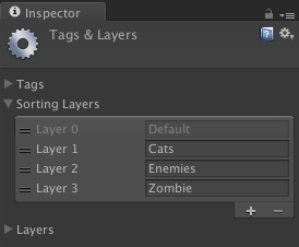 Editor showing sorting layers