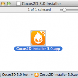 The new Cocos2D 3.0 Installer