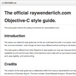 Introducing the raywenderlich.com Objective-C Style Guide
