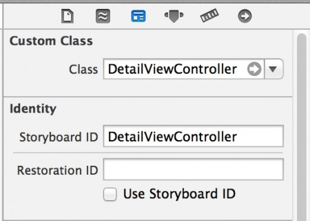 Add Storyboard Identifier