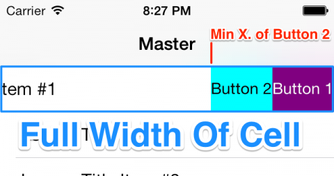 Minimum x of button 2