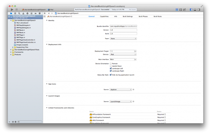 First Open in Xcode