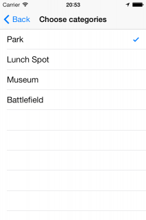 "Select just the ""Park"" category"