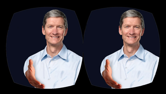 Virtual handshake with Tim Cook