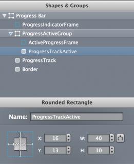 Progress track active rect width