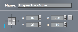 Progress Track Resizing