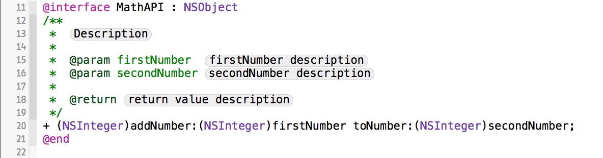 Documenting in Xcode with HeaderDoc Tutorial   raywenderlich com