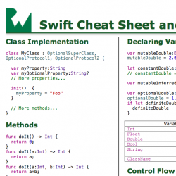 Swift Cheat Sheet and Quick Reference Now Available!
