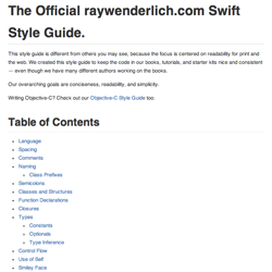 Introducing the raywenderlich.com Swift Style Guide