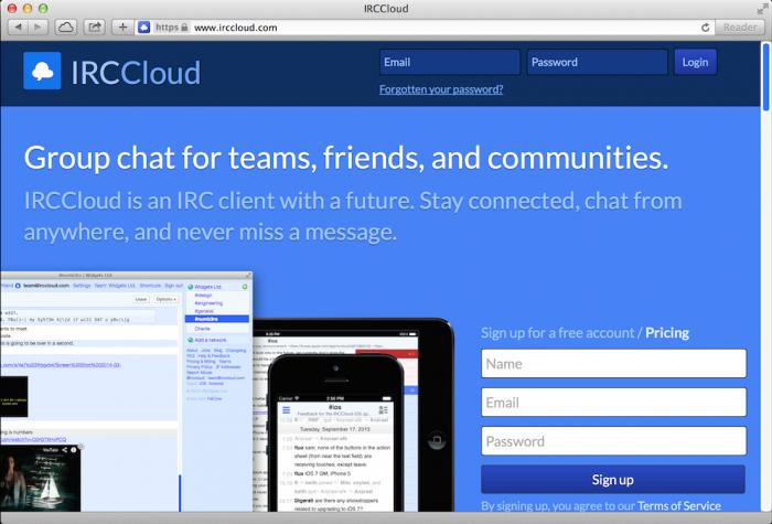 IRCCloud_Homepage