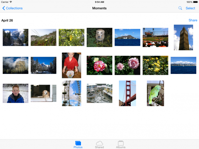 iOS Photos App