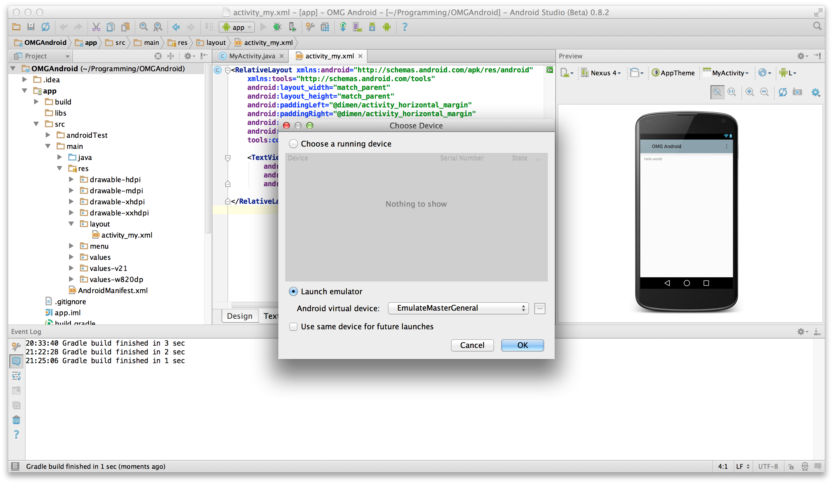 Beginning android development part one installing android studio runbutton baditri Image collections