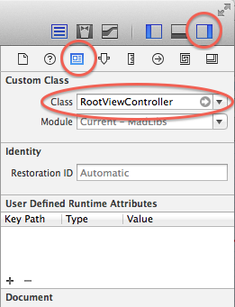 RootviewController Classname