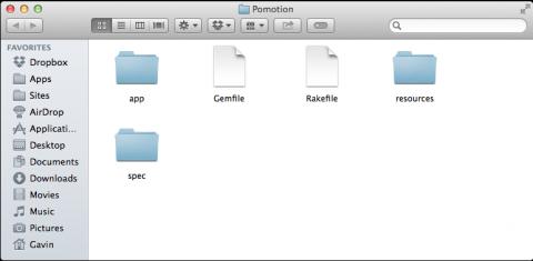 Empty RubyMotion App directories