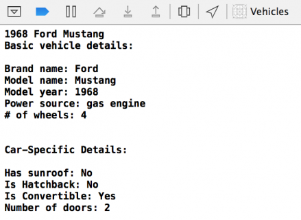 VehicleDebugger