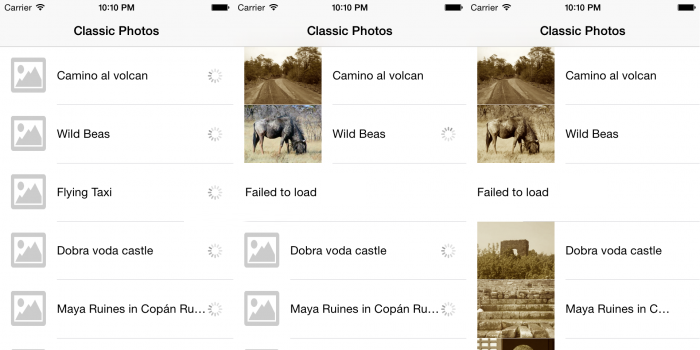 Classic photos, loading things one step at a time!