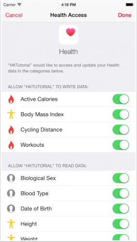 Authorize HealthKit