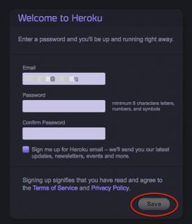 Heroku Signup