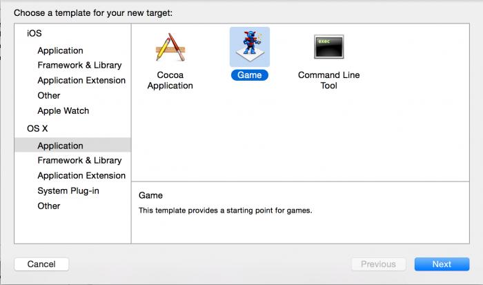 OSX_CC_CreateGameTarget