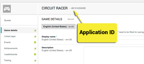 Application ID location